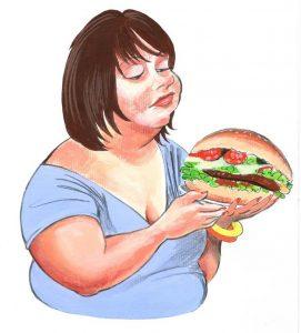 comedora hamburguesas